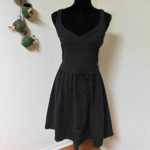 Cynthia Rowley Black Sleeveless Racerback dress wi
